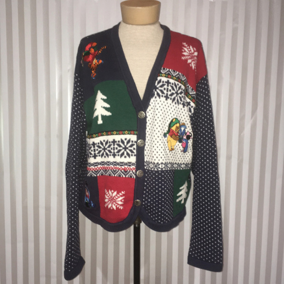 2cc44209f29a Disney Sweaters - The Disney Store Winnie The Pooh Winter Cardigan